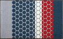 wash+dry  ウォッシュアンドドライ マット J008B【Mixed Dots grey】ドットグレー 75×120cm
