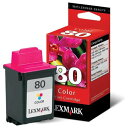 【訳あり箱日焼け】Lexmark(レックスマーク)80 純正カラーカートリッジ 12A1980A【定形外可】