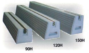 エアコンの室外機・物置の土台 スライドブロック NSLB-120-600 上辺90mm底辺120mm高さ120mm長さ600mm 重量 16.9kg 付属ボルトM10-30BT2個付