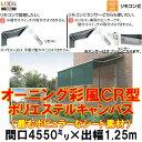 オーニング LIXIL/TOSTEM 彩風CR型 リモコン式 ポリエステル 間口4550ミリ×出幅1.25m【庇】【日除け】【窓】【リフォーム】【リクシル】【トステム】