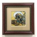 ジュエリー絵画® ジャポニズム 俵屋宗達 「風神 FU1」 正方形 SSサイズ 7.62×7.62cm インテリア壁飾り 新築 リフォーム お祝い プレゼント 記念品 額入りハンドメイド 宝石で作った絵画 kenzai