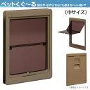 ペット用ドア アトム製 ペットくぐーる 中サイズ 小型-中型犬用 建具用ペットドア