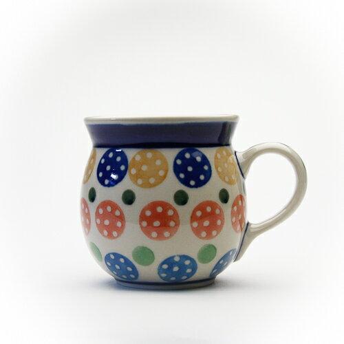 高さ8cm 容量0.25L Ceramika Artystyczna社製ポーリッシュマグ・小[C005-1126]【ポーリッシュポタリー