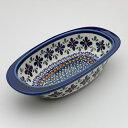 オーブン皿(グラタン皿)・オーバル・小[Z227-DU60]【ポーリッシュポタリー[ポーランド食器・陶器]】