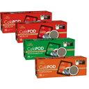 キーコーヒー Cafe POD (カフェポッド60mm) アソートセット(各7gx20個)x4箱【送料無料】