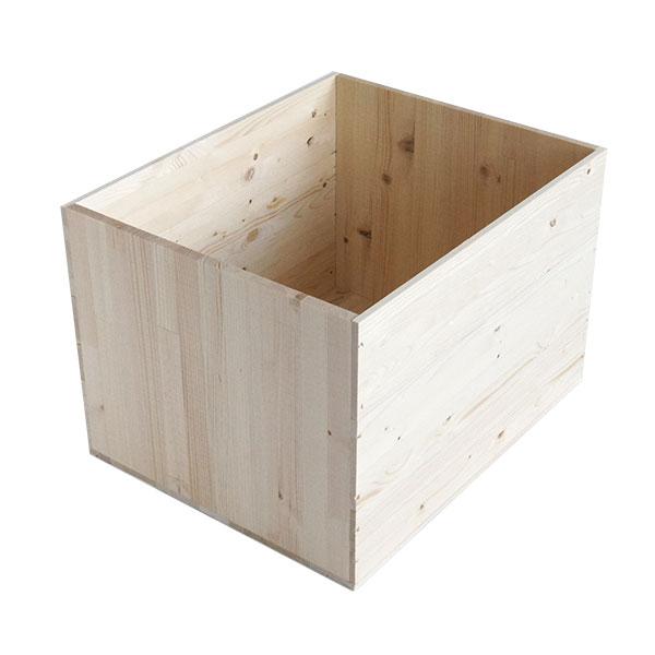 りんご箱A15K【取手なし】1箱(パイン集成材)/りんご箱きばこ木箱ki... / リンゴ箱 木