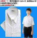 送料無料 白2枚セット スクールシャツ 男子 半袖 学生 シャツ カッターシャツ 学生服 白シャツ