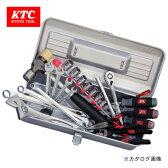 【エントリーでポイント10倍 ~9/1 9:59】KTC 工具セット(片開きメタルケースタイプ) 24点 SK3249S