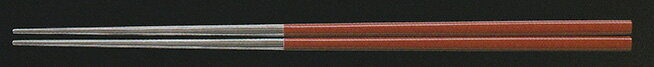 SABAE箸(チタン)(日本製) 22.5cm チタン四角箸 朱塗