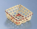 竹製 珍味籠(10個入) 3089 ミニ角8 ブラウン .【珍味入れ小鉢 和食器】