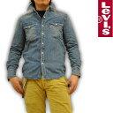 リーバイス Levi's デニムシャツ ウエスタンシャツ ユーズド加工 65816-0006 RED TAB メンズ