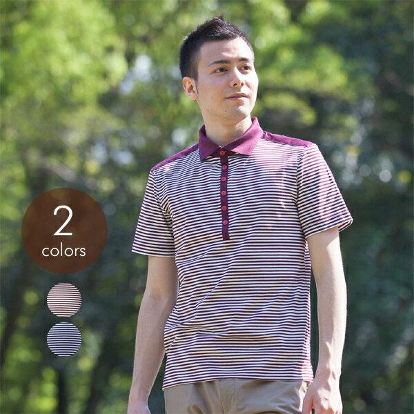 Knit Garden/男士全棉横条短袖衬衫