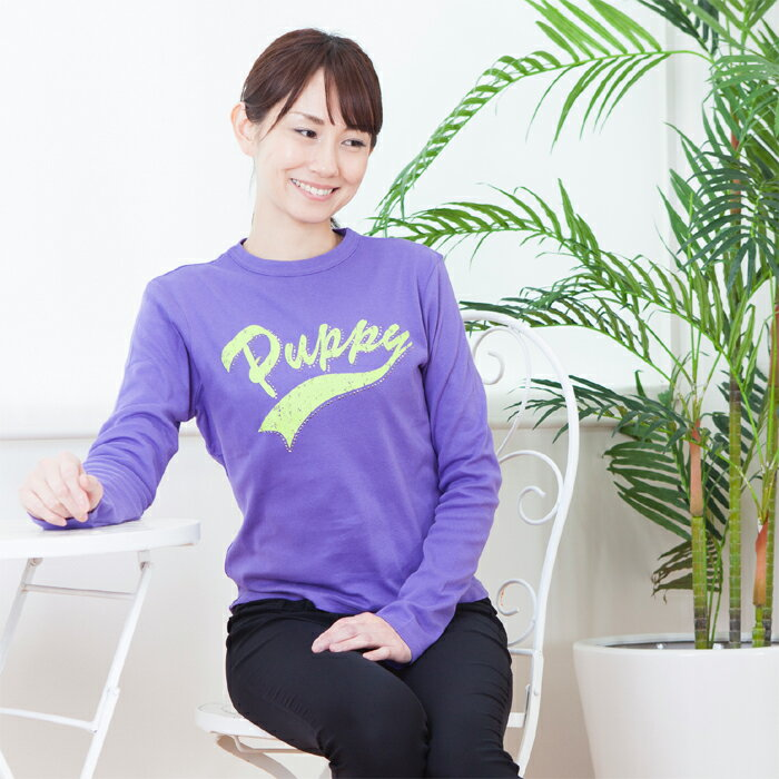 レディース 長袖プリントTシャツ 日本製(35...の紹介画像3