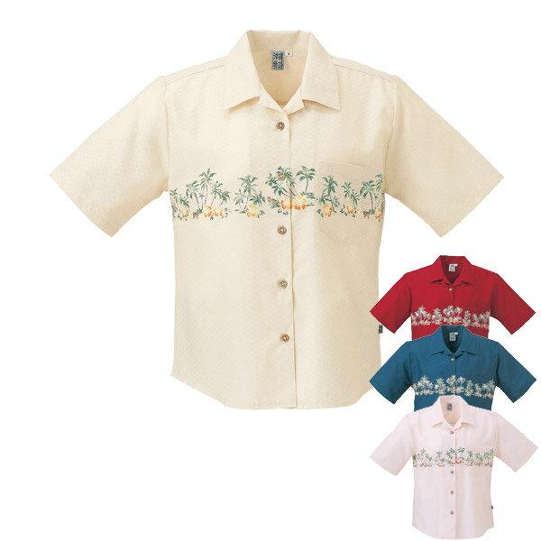 かりゆしウェア 沖縄産アロハシャツ レディース ...の商品画像