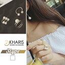 ショッピング指輪 パールリング 指輪 C型 フリーサイズ おしゃれ シンプル カジュアル 小物 ファッション 雑貨 レディース
