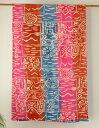 マルチカバー おしゃれ アジアン イタワ織 長方形 エスニック柄 タイダイプリミティブ インド綿 ピンク系 PI ソファーカバー ベッドカバー シングル 150cm 225cm
