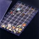 ピンバッジ&リングケース 日本製 クリア 小物 コレクションケース