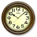あす楽 期間限定 さんてる レトロ 電波掛時計 丸型 アンティークブラウン DQL668 昭和レトロ調 アナログ時計 ウォールクロック 電波時計 壁掛け時計 置時計 日本製