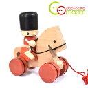 あす楽 おもちゃのこまーむ トビー&ポコ プルトーイ 2歳から 木のおもちゃ 引っ張るおもちゃ お散歩 おもちゃの兵隊と愛馬 Toy ベビートイシリーズ ギフト 日本製