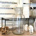 あす楽 松野ホビー メディシンボトル 1000ml FR-1284 ガラス瓶 薬瓶 レトロ調 アンティーク ガラス容器 風薬瓶 透明瓶 小物入れ 花瓶 ボトルフラワー インテリア