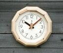 「キコリの時計」 木の電波時計 【森の電葉時計 (12角形)】 05P01Oct16