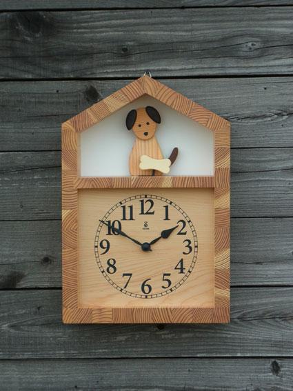 「キコリの時計」 木の振子時計 【イヌとホネの時計】 05P01Oct16