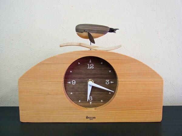 【New!!】「キコリの時計」 木の振子時計 【くじらの時計】