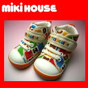 [MIKI HOUSE  Miki house] hot bi multi-check baby shoes [1215 12.5.13.13.5.14.14.5cm  second shoes  shopping marathon   KBM100907 ]
