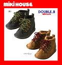【送料無料】【MIKI HOUSE★ダブルB】ヌバック風マウンテンブーツ【13・14・15・16・17・18・19cm】