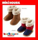 【】【MIKI HOUSE★ホットビ】中までふわふわ♪ファー付きブーツ【13・14・15・16・17・18cm】