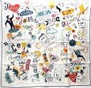 【★新品同様★】《送料込》 HERMES エルメス 『カレ90』 《Les Confessions(告白)》 《白X黒Xマルチ》 スカーフ/カレ/シルクツイル/...