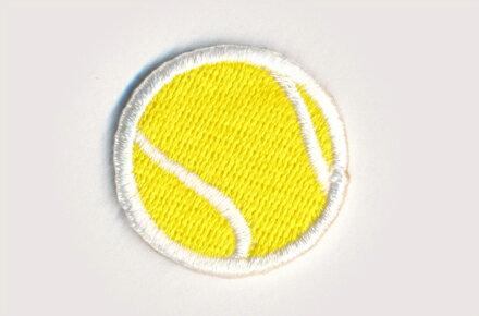 テニスボール_Bワッペン(小サイズ)/お稽古バッグやスモックに!入園準備に!/刺繍ワッペン/アップリケ/アイロン接着