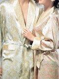 【】シルクローブ プラントハート柄 長袖 紳士(空色ブルー)ピンク 絹100% メンズとレディース 2着買ってペアで【】【smtb-KD】【楽ギフ包装選択】あす楽対応【RCP】