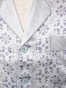 アウトレット 19匁高級シルク100%パジャマ 長袖 【ミンワ柄 灰色(グレー)】【送料無料】19匁絹100% メンズ/紳士 ルームウェアーllあす楽対応