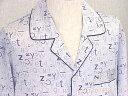 長袖シルクパジャマ【アルファベット柄 ライトグレー】19匁絹100% メンズ/紳士 ルームウェアーll【送料無料】父の日 敬老の日 プレゼント ギフト【smtb-KD】【楽ギフ_包装選択】あす楽対応【RCP】