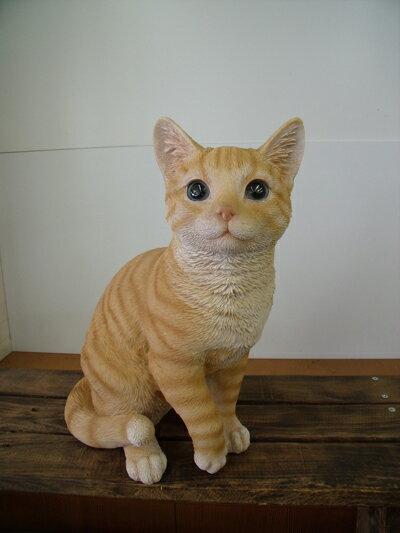 【今だけ送料無料】【入荷致しました】かわいい猫♪茶トラねこガーデニング雑貨オブジェ置物・オーナメント12690ガーデニング オーナメント