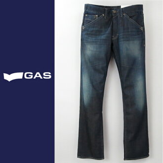 ♦ GAS men ♦ used processing Strait jeans denim pants gas-m-p-38-621