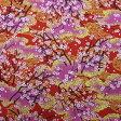和柄生地 雅な金織桜文様 赤系 【生地 和柄 布】