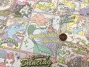 【メール便の送料無料】 ディズニー プリンセス 3色 アメコミ柄 シーチング 布 2017