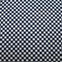 和柄生地 シンプル市松 濃紺 和調 和柄 布