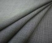 定番人気の日本製上質ウール混先染め白/黒 千鳥格子・チェック 平織り♪W巾150cm 防縮加工 布 生地 布地 服地 通販 激安 ウール チェック ウール生地 10cm単位 千鳥柄 チェック柄 ポリエステル スカート パンツに