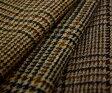 紡毛ウール ブリティッシュ チェック ソフトツイード4色マルチカラー全3アイテム♪ピーコート,マントコート,ポンチョに♪W巾140cm厚み約1.2mm。布 生地 布地 服地 通販 激安 問屋 ウール生地 膝掛け ショールに