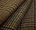 紡毛ウール ブリティッシュ チェック ソフトツイード4色マルチカラー全3アイテム♪ピーコート,マントコート,ポンチョに♪W巾140cm厚み約1.2mm。布 生地...