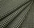 再入荷!日本製ウール100%紡毛ツイード調・キュートな先染め白黒千鳥格子♪ジャケット コート ポンチョに♪W巾150cm 防縮加工 10cm単位 布 生地 布地 服地 通販 激安 ウール チェック ウール生地 チェック柄 千鳥柄 千鳥