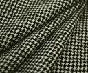 再入荷!日本製ウール100%紡毛ツイード調・キュートな先染め白黒千鳥格子♪ジャケット コート ポンチョに♪W巾150cm 防縮加工 10cm単位 布 生地 布地...