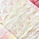 綿の平織りを何層にも重ねたミルフィーユ仕立ての『ふんわり柔らか6重ガーゼハート』
