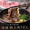 【特選】讃岐オリーブ牛 極上肉うどん【4食入】【本生うどん】
