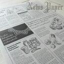 ニュースペーパージャーナル 2WR 20枚入り/英字新聞風包装紙/メール便可