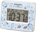 スヌーピー目覚し時計 大人から子供まで、世界中みんなの人気者、スヌーピーの目覚まし時計です。リズム時計[シチズン]電波目覚まし時計 スヌーピーR020 8RZ020-M04青デジタル