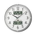 シチズン 電波時計 壁掛け時計 温度計 湿度計 インフォームナビF シルバーメタリック 4FY618...